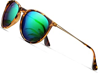 Sunglasses for Women Men Polarized uv Protection Wearpro Fashion Vintage Round Classic Retro...