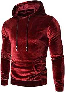 Sudadera Terciopelo Hombre Invierno Hoodie Suave Cómodo liquidación Pullover Personalidad con Capucha Jersey Moda Ropa Dis...