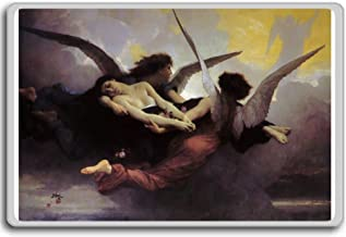 William Adolphe Bouguereau - Soul Carried To Heaven classic art fridge magnet