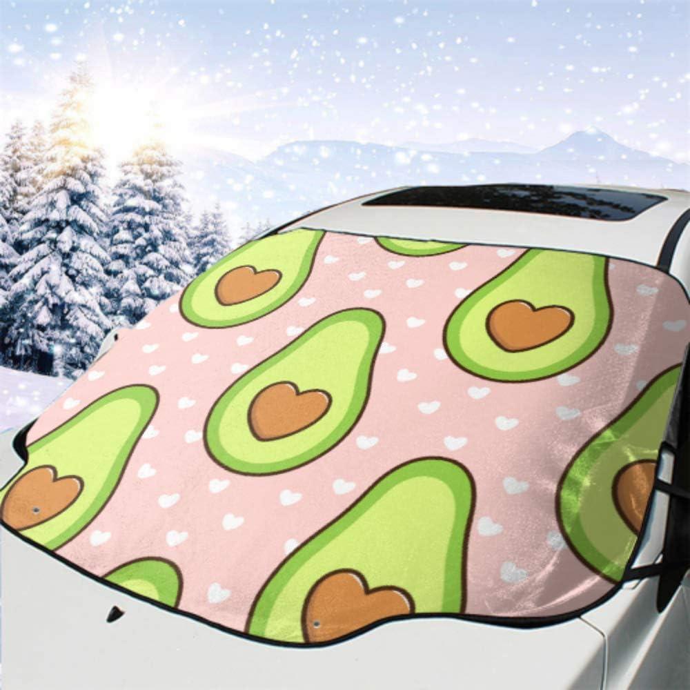 Car Front Windshield Cover Cheap sale Pattern specialty shop Avocado Al Bone On Form Heart