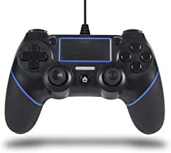 Sefitopher PS4 Wired Controller for Playstation 4/pro/Slim/PC/Laptop with Functions Such as Vibration, Colored LED Indicator, Double Vibration and Anti Slip Grip,6.5ft Cable Length