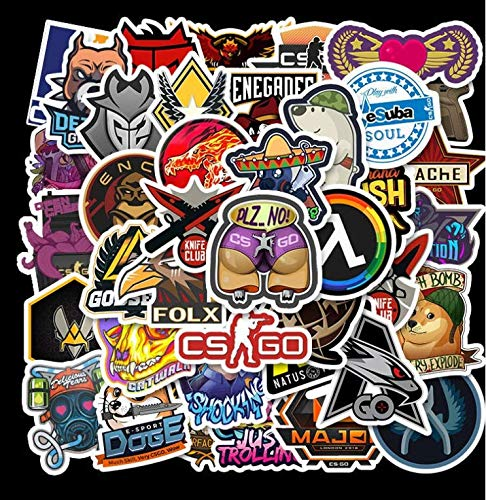 Counter Strike Csgo Helmet Luggage Skateboard Notebook Electric Car Waterproof Graffiti Sticker 50 Sheets