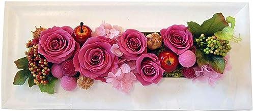 パラボッセ プリザーブドフラワー レクタングル (ピンク) ケース付 壁掛け フレーム 誕生日 開店祝い 開院祝い 退職祝い などの花ギフトに