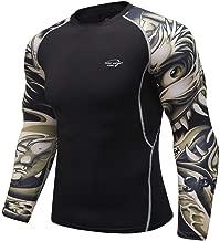 Herren Pullover Schwarz Kompressionsshirt Langarm Compression Shirt Cool Funktionsshirt Running Jogging Trainingsshirt Sport Bekleidung Base Layer Unterwäsche Atmungsaktiv Laufshirt für Männer
