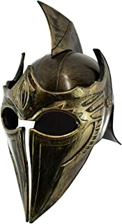 Pointed Roman Gladiator Helmet Costume Accessory, Gold, One Size