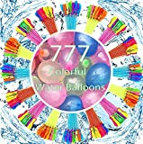 Water Balloons Instant Filling Self Sealing for Kids & Adults Indoor Outdoor, 777 Colorful Water Balloons for Cool Summer Games Party Water Toys Balloons for Family Fun Swimming Pool Funs