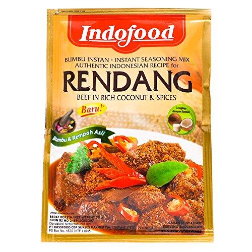Indofood Rendang - manzo in noci di cocco ricchi e spezie, 50 grammo (2 confezione)