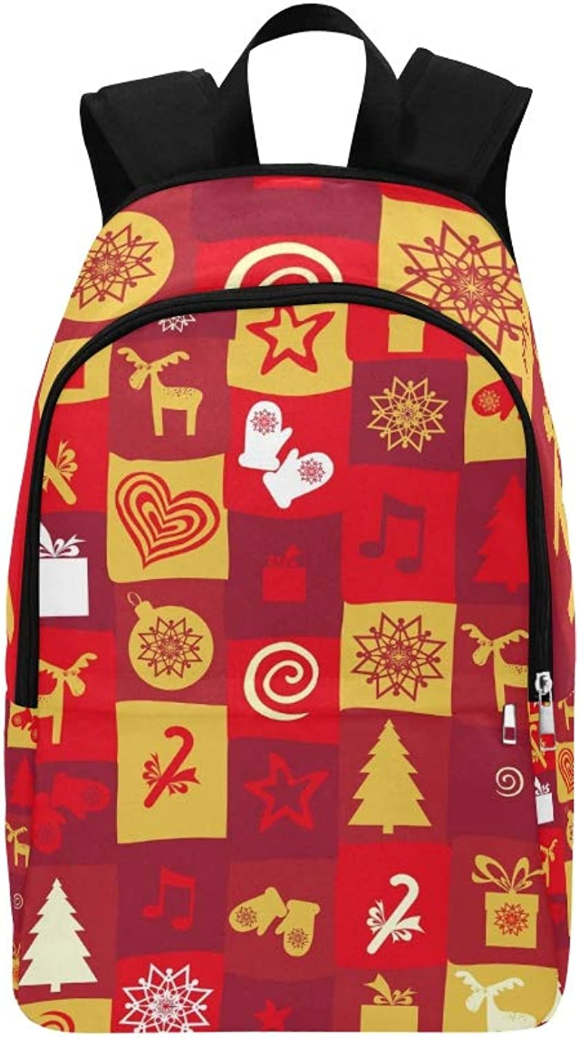 Holiday Christmas New Year Casual Daypack Travel Bag College School Backpack for Mens and Women
