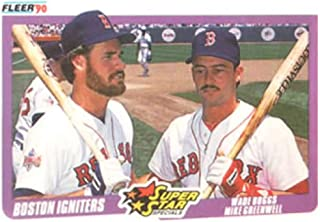 1990 Fleer Baseball #632 Wade Boggs/Mike Greenwell Boston Red Sox Boston Igniters Official MLB Trading Card