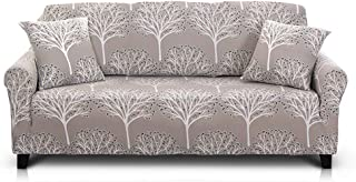 Hipinger Spandex Fabric Stretch Couch Cover Sofa Slipcover Stylish Furniture Protector (Fiery Tree, Loveseat)