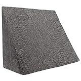 XL Almohada de cuña para sala de estar y dormitorio, cojín de lectura, almohada de relajación, respaldo flexible, cojines de embarazo, almohadas de lactancia // para tumbarse y sentarse (gris)