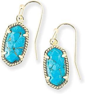 Lee Drop Earrings In Bronze Veined Turquoise