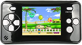 """HigoKids Portable Handheld Games for Kids 2.5"""" LCD Screen Game Console TV Output Arcade Gaming Player System Built in 182 Classic Retro Video Games Birthday for Your Boys Girls (Black)"""