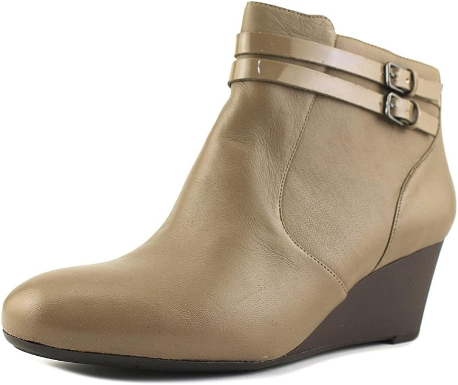 Naturalizer Womens Nikole Leather Belted Ankle Boots
