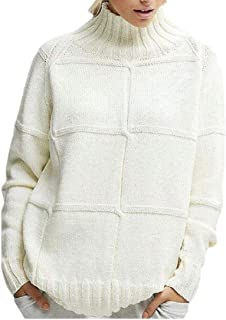 Macondoo Women Fall/Winter Knit Mock Turtle Neck Pullover Jumper Sweater