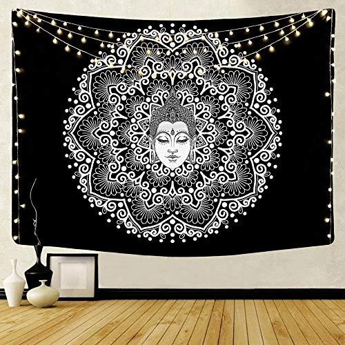 WERT Mandala patrón Tapiz Indio decoración Colgante de Pared Elefante Bohemio Tapiz de Playa decoración de Fondo Tela A13 150x200cm