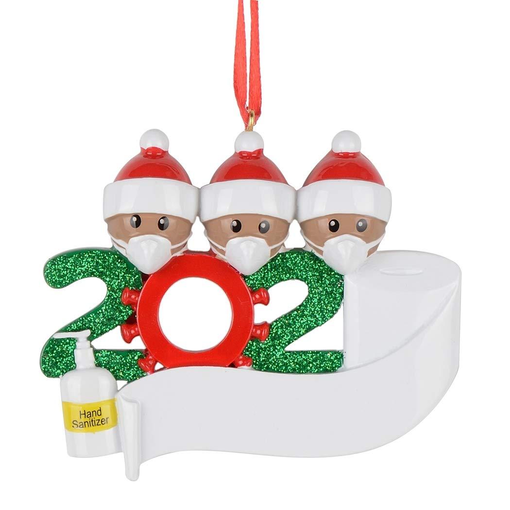 Ornaments Quarantine Christmas Personalized Family Tree Decor 2020Covid Survivor