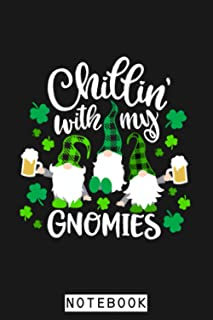 Chillin With My Gnomies Buffalo Plaid Saint Patrick Day Gift Notebook: Matte Finish Cover, 6x9 120 Pages, Journal, Diary, ...