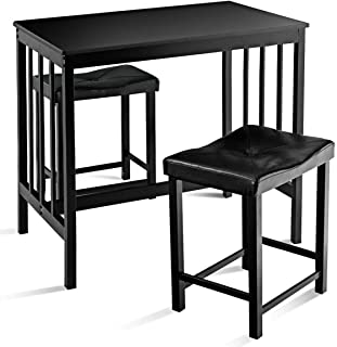 9dstore Set Table and 2 Chairs Kitchen Bar Furniture Modern Counter Height Dining 3 PCS