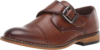 STACY ADAMS 儿童 Desmond 开普托趾僧侣带乐福鞋