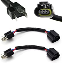 iJDMTOY (2) H4 9003 to H13 9008 Pigtail Wire Wiring Harness Adapters for H4/H13 Headlight Conversion Retrofit