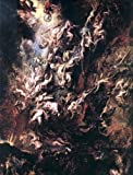 "Art Oyster Peter Paul Rubens The Fall of The Damned - 21"" x 28"" Premium Canvas Print"
