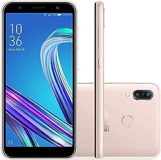 """Smartphone Asus Zenfone MAX M3 64GB Android 9.0 Tela 5.5"""" Câmera Dupla 13 MP + 8 MP - Dourado"""
