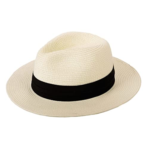 YChoice A Superb hat Fashion Women Men Panama Hat with Tassel Beach Fedora Sun Hat for Perfect Winter