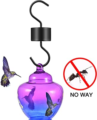 Hummingbird Feeder Accessory Hooks 6 Packs, Ant Guard Moa for Hummingbird Oriole Nectar Feeders, Gets Rid of Ants Fast in Nectar Feeder with 6 Clean Brushes