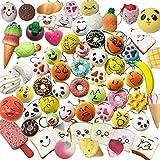 Juguetes Squishy de Hinchado Lento Paquete Surtido de 20 Squishies: Kawaii de Comida Gigante Bollo Pan Donuts Panda Suaves y Blandos Jumbo Medio y Mini - Amuletos de Móvil Llavero Correa
