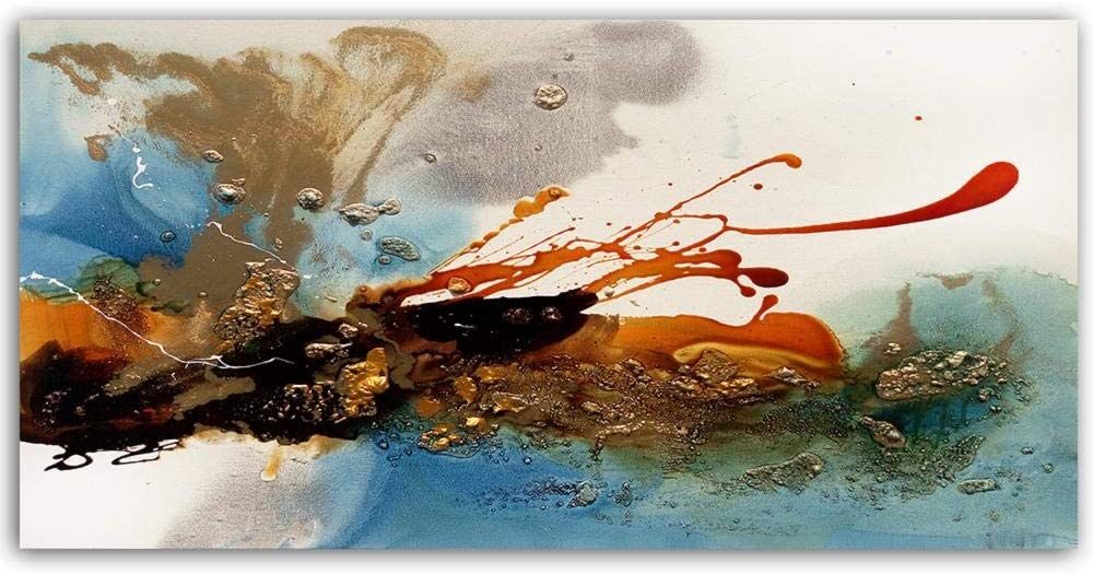 NEW before selling ☆ Abstract Max 61% OFF Golden Painting Oil Wall For R Living Pictures