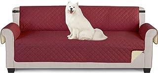 TAOCOCO Funda de sofá Impermeable Funda de cojín de protección para Mascotas Funda de sofá antisuciedad (Rojo/ 4 Plazas 19...