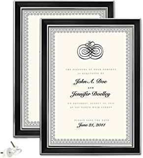 Amazing Roo A4 Frame Set of 2 Certificate Picture Frames with Glass Front for Wall or Tabletop Display