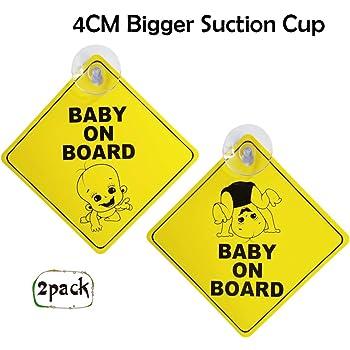 Ponacat Baby on Board Sticker Sign,Baby Car Sticker Kid Safety,Self-Adhesive Car Window Sign Sticker