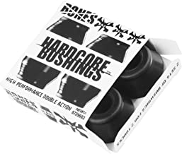 Bones Hardcore 4pc Hard Black Black Bushings Skateboard Bushings