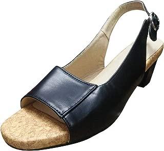 Ladies Vintage Platform Buckle Open Toe Sandals Low-Heeled Open Toe Shoes Casual Sandalas