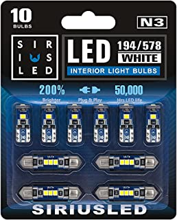 SIRIUSLED N3 578 211-2 212-2 41MM 194 168 2825 Combo LED bulbs white Super Bright 300 Lumens 3030 Chipset for The U.S.A Ca...