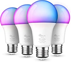 Smart Bulb 4 Pack, Treatlife Color Changing Light Bulb Dimmable Multicolor and White LED Bulb, Works with Alexa, Google Ho...