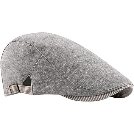 FBBULES Algodón Mezcla Clásico Plano Gorra Boinas Vendedor de Periódicos Sombreros - Hombres Chicos Casual Sombrero de conducción con Hebilla Ajustable