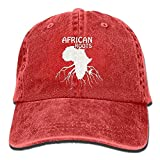 Yearinspace African Roots Dad Hat Gorra de mezclilla ajustable Gorra de béisbol clásica CBH-3818