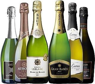 My Wine CLUB マイワインクラブ シャンパン 製法 & 金賞受賞 ワイン 入り スパークリング ワイン 6本 セット
