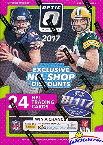 2017 Donruss Optic NFL Football EXCLUSIVE Factory Sealed Retail Box with (6) ROOKIES & (6) PARALLELS/INSERTS! Look for Rookies & Autographs of Deshaun Watson, Alvin Kamara & Many More! WOWZZER!