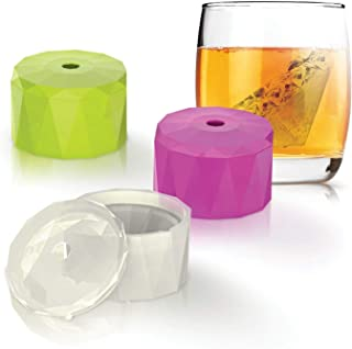 """INNOKA Ice Cube [Set of 3] 3D Diamond Shape Silicone Mold [BPA Free] 2"""" x 1.3"""" Ice Maker Big Ice Cube Trays with Lid Easy Release for Chilling Bourbon Whiskey Drinks, Cocktail, Beverages"""