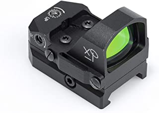 HD Red Dot Sight for AR-15 – Tactical Reflex Sights 3 MOA for Day & Night Time – Easy To Zero on an AR15 Rifle, Mossberg Shotgun or Glock Pistol - B0NUS Picatinny Mount, Lifetime Battery Replacement