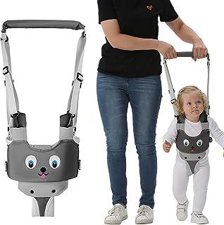 Handheld Baby Walking Harness for Kids, Adjustable Toddler Walking Assistant with Detachable Crotch, Safe Standing & Walk ...