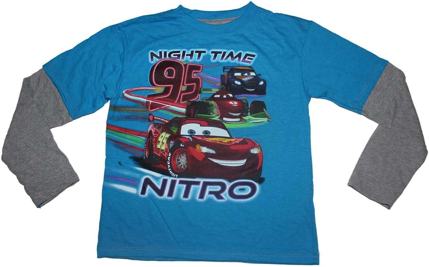 Disney Pixar Cars Night Time Nitro Boys Long Sleeve Shirt 4-7