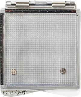 Tonic Studios 1707E Plateforme d'estampage Polyester, Gris/Clair, 24,5 x 29,3 x 1,5 cm
