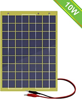 ECO-WORTHY Waterproof 10 Watts 12 Volts Epoxy Solar Panel Module with Diode 12V Battery..