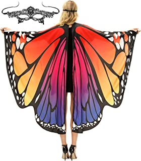 woman with butterfly wings