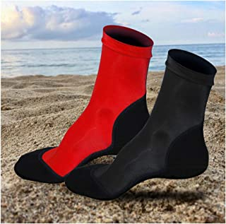 Beach Socks 2 Pairs - Lycra Sand Booties Skin Fin Socks Neoprene Water Sports Aqua Shoes for Volleyball Soccer Swimming Scuba Diving Fishing Kayak Surfing Rafting Snorkeling